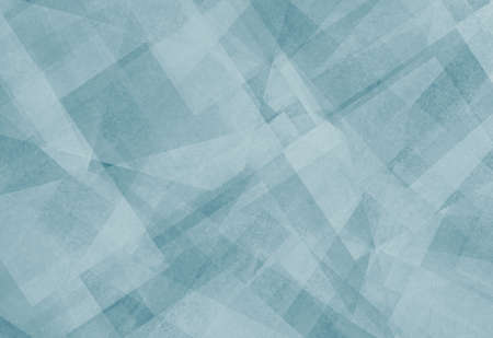 abstract background blue and white square triangle and diamond shaped transparent layers in diagonal random pattern background effect photo
