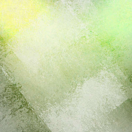 abstract green yellow background with white faded grunge rectangle shapes layered in random pattern