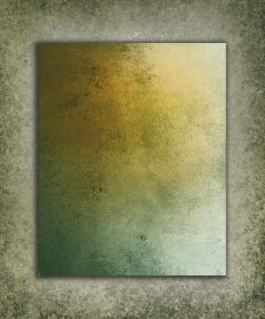 layered gray green orange background textures with shadow drop and vintage grunge background texture design photo