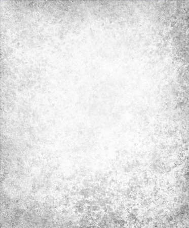white background paper, vintage texture and distressed gray grunge border photo