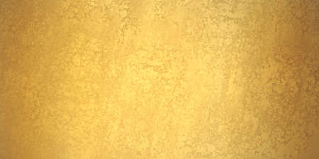 gold background banner, texture is old vintage distressed solid gold color with rough peeling paint Foto de archivo