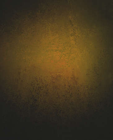 classy dull gold background with black vignette border and vintage grunge background texture