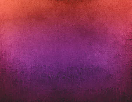 abstract orange pink and purple background with black messy vintage grunge texture design