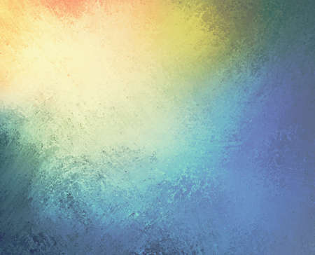 beautiful colorful background design, textured rainbow of color stripes with grunge paint illustration, stripes of orange yellow green and blue Stok Fotoğraf
