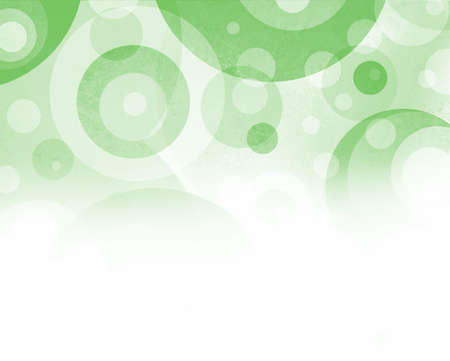 fun green and white background with circles and target ring shapes in abstract pattern design photo