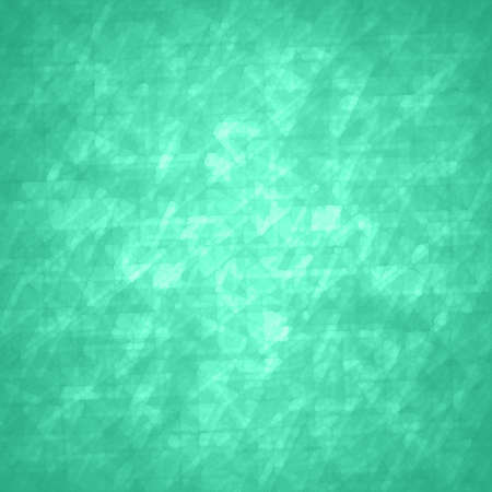 glitzy: abstract glassy triangle and rectangle shapes background with blue green geometric angles and lines in fine detail pattern, shimmering glass background layout, luxury glitzy decoration Stock Photo
