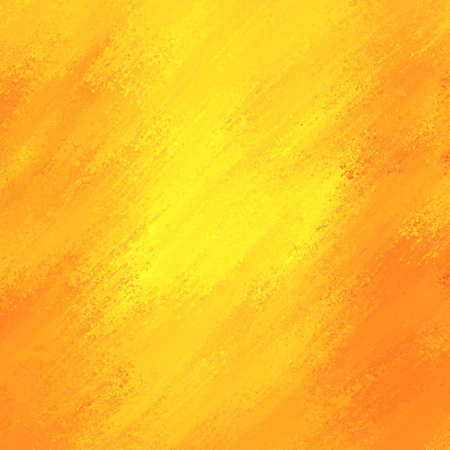 bright smeared gold paint with orange grunge border, bright sunny yellow streaks of color, yellow background Banco de Imagens