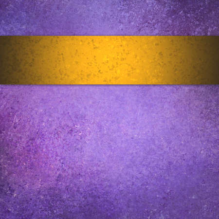 gold textured background: purple background with gold ribbon stripe, vintage grunge background textured purple painted wall