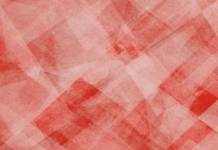 diamond shaped: abstract background red and white square and diamond shaped transparent layers in diagonal pattern background
