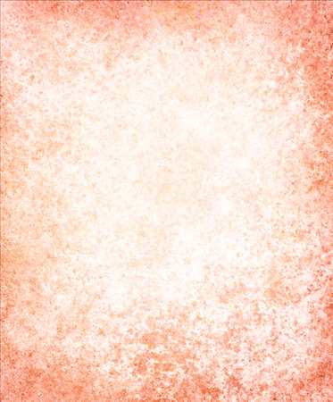 white orange background paper, vintage texture and distressed grunge texture border photo