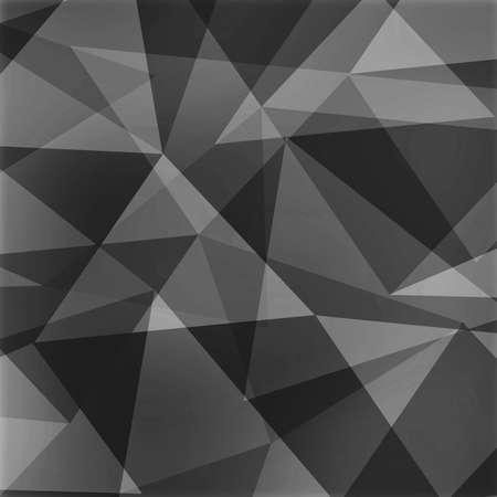 Fondo triángulo extracto, formas angulosas gris y blanco negros en diseño al azar Foto de archivo - 37543793