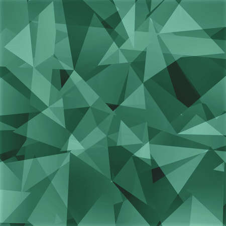 angled: abstract triangle background, black gray and green angled shapes in random design Stock Photo