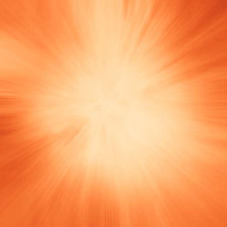 zoomed: zoomed orange background with starburst line design effect Stock Photo