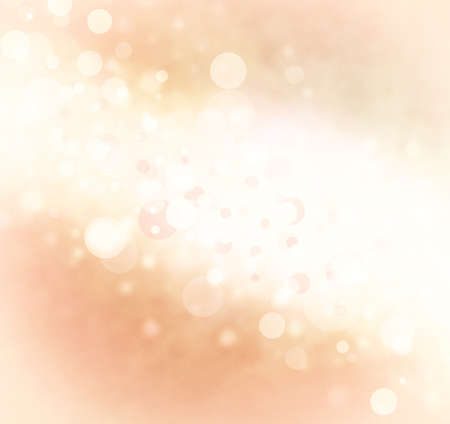 shimmery: abstract white orange bubble background, bright stripe of white bokeh lights background design on faded peach color border, sparkles and shimmery circle shape background