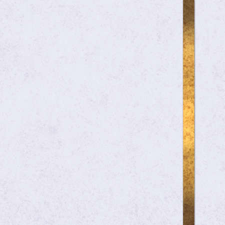 elegant white background paper with gold ribbon accent