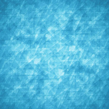 abstract glassy triangle and rectangle shapes background with blue and white geometric angles and lines in fine detail pattern, shimmering glass background layout