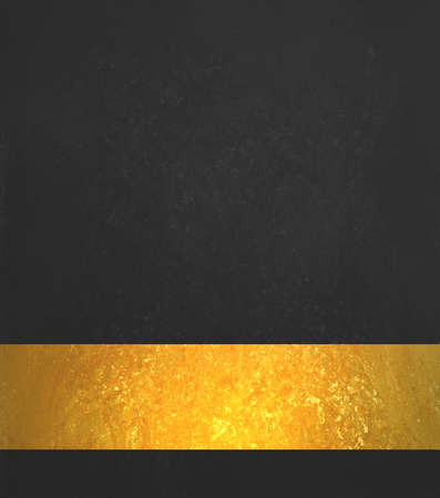 shiny black: Black background. Luxury shiny gold ribbon. Black website template design.
