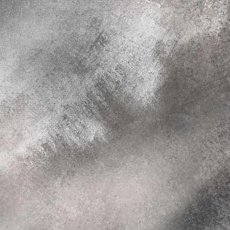 sponged: vintage distressed black background texture layout with white grunge sponged wall paint in messy marbled effect Stock Photo