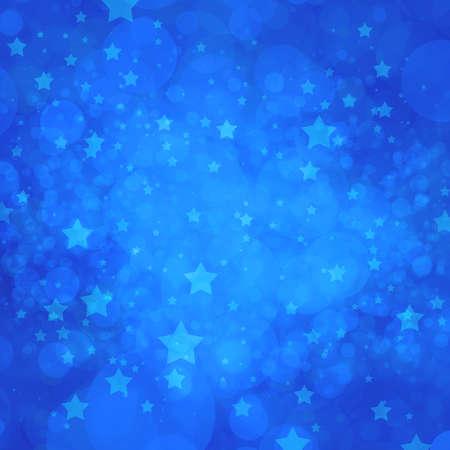 blue star background lights in random pattern Foto de archivo