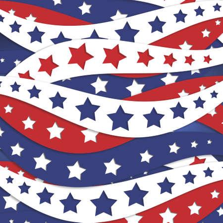 stars and stripes background. July 4th red white and blue background. Memorial day background design. Fourth of July celebration image. Standard-Bild