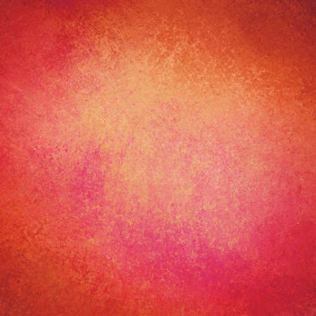 distressed: orange red background design with distressed texture and faint grunge border Stock Photo