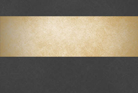 black textured background:  black background with gold header title bar. gold banner.