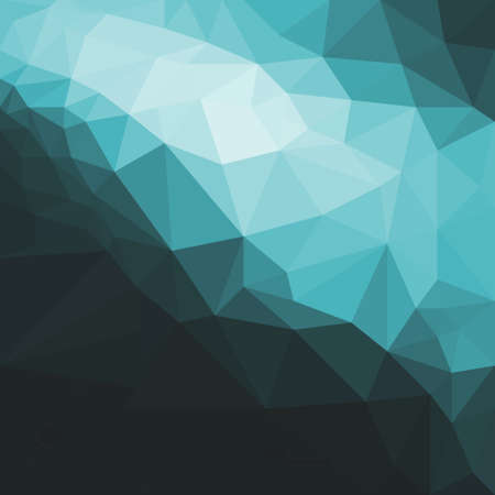 low angles: low poly blue and black background design, dramatic blue and white angles against dark black background, geometric shapes Stock Photo