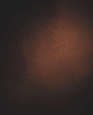 abstract brown background, black shadow border frame, vintage grunge background texture, brown paper layout design, brown plastered wall Foto de archivo