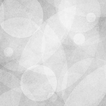 spot the difference: white background circles on faint gray background design, layers of white bubbles Stock Photo