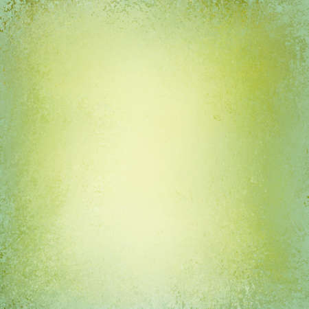 sponged: shiny yellow green background with vintage textured distressed grunge border and spring colors