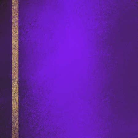 royal background: Purple background with gold ribbon. Distressed vintage grunge background texture, elegant formal luxury background design. Purple website background
