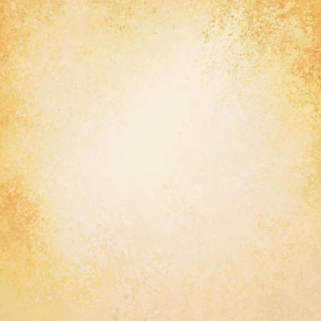 oud papier textuur, wit centrum met oranje en geel grunge grens, elegante Thanksgiving achtergrond of herfst achtergrond ontwerp