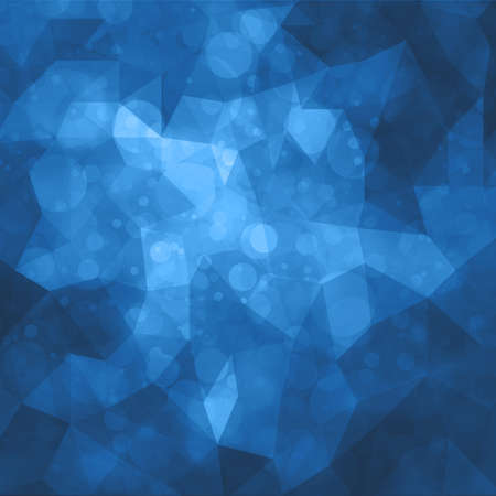 spot the difference: abstract blue triangle low poly shapes background with bokeh lights or circle shapes in random pattern design double exposure