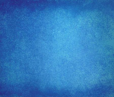 solid color: elegant blue background design with distressed vintage texture and faint dark blue grunge border