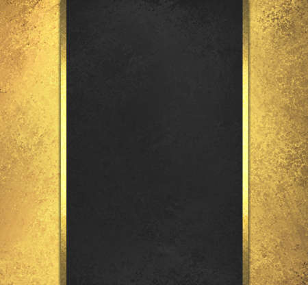 black chalkboard background yellow sidebar panels with gold ribbon