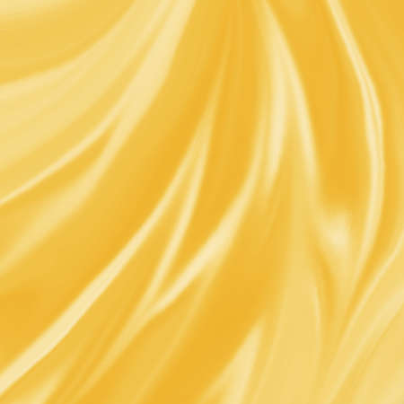 gold material background illustration elegant waves of gold silk or satin fabric flowing or draped in abstract design Stock Photo