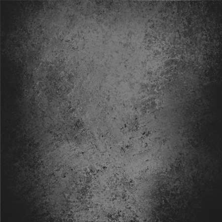 parchment texture: abstract black background, gray parchment texture or soft distressed vintage texture with light gray center and darker black border, faded gray paper, elegant gray website template Stock Photo