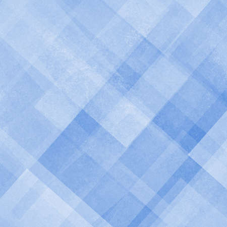abstract background blue and white square and diamond shaped transparent layers in diagonal pattern background