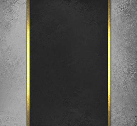 sidebar: black chalkboard background with grey sidebar panels with gold ribbon trim accent