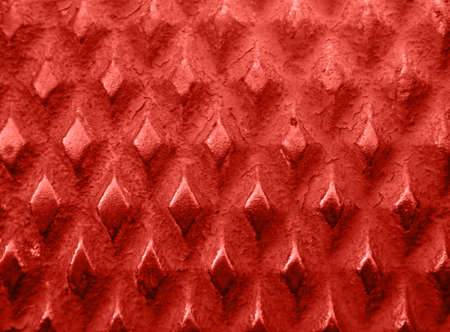 grid pattern: red metal background pattern, diamond grid shapes with rust