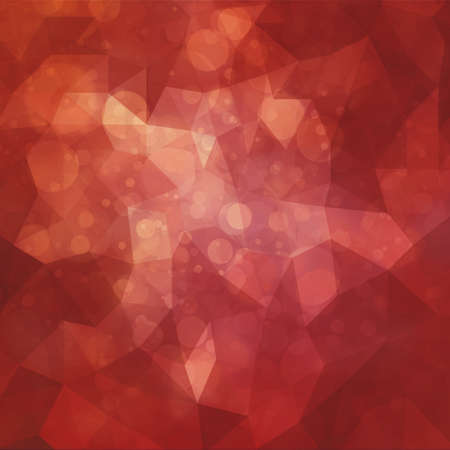 shimmery: abstract red triangle low poly shapes background with bokeh lights or circle shapes in random pattern design double exposure