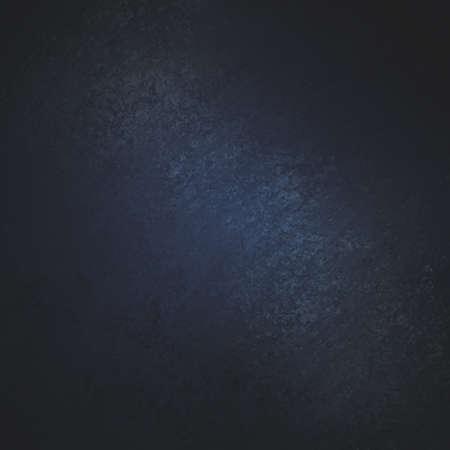 black background with dark blue center and grunge texture Standard-Bild