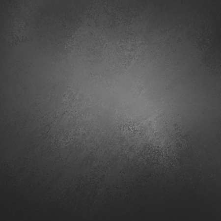 sponged: Black background. Website background, grunge sponged textured corner design with soft gray spotlight center Stock Photo
