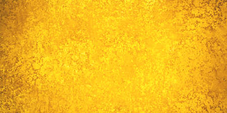 sponged: gold background with texture, shiny detailed sponged or crackled paint in bright yellow gold color with brown grunge texture Stock Photo