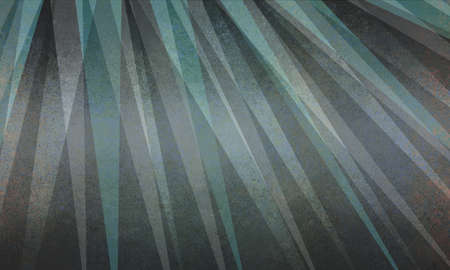 abstract sun ray or starburst pattern background in black gray and teal blue triangle layer design