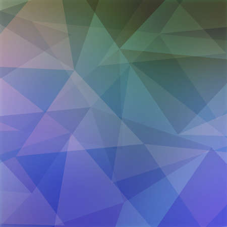 angled: abstract triangle background, purple green and blue angled shapes in random design