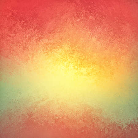 brilliant colorful background in red yellow orange and green, bright yellow color splash center and red border