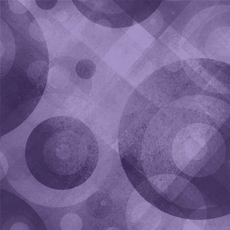 spot the difference: abstract purple background with circles rings diamond and square shapes in random pattern, modern contemporary art style background
