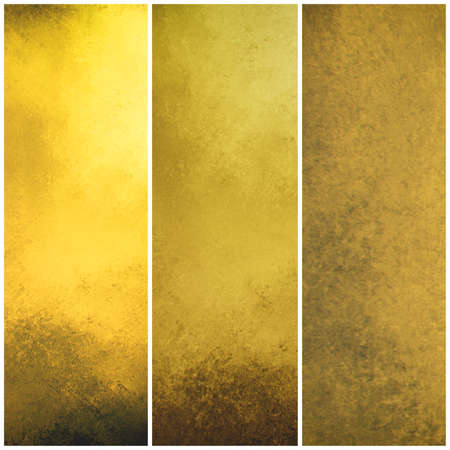 side bar: textured gold sidebar backgrounds, vintage old yellow painted wall with grunge and stains, old worn stripes, graphic art website banner or side bar