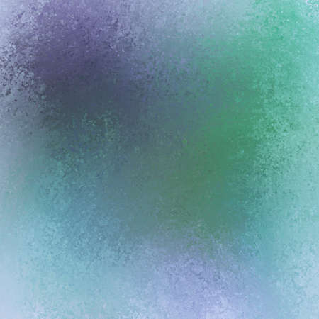 spattered: blue green and purple color splashes on background Stock Photo
